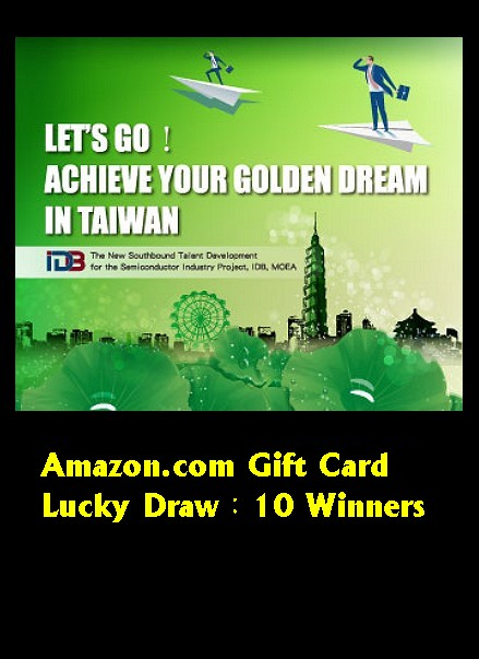 Let's go!Achieve your golden dream in Taiwan.
